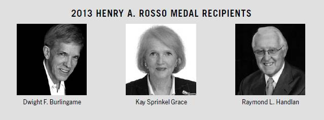 Henry A. Rosso Medal Recipients
