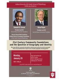 21st Century Community Foundations and the Question of Geography and Identity