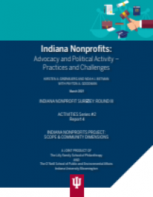 Indiana Nonprofits are Active in Advocacy, but Few are Extensively Engaged, New IU Study Finds