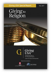 Religiously affiliated people more likely to donate, whether to place of worship or other charitable organizations