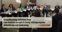 Lake Institute convening, funding expand faith and giving research field