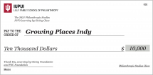 """""""Learning by Giving"""" class gives $10,000 grant to local nonprofit Growing Places Indy"""