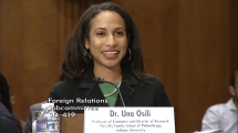 Osili testifies at U.S. Senate subcommittee on role of philanthropy and remittances in foreign aid