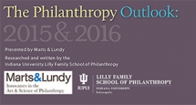 Webinar: Understanding and Using The Philanthropy Outlook
