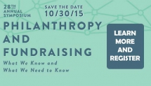 2015 Symposium - Philanthropy and Fundraising: What We Know and What We Need To Know