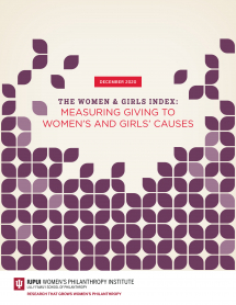 Giving To Women's and Girls' Causes Remains at 1.6 Percent of All Charitable Giving