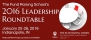 Leadership Roundtable offers nonprofit executives, fundraisers new knowledge to strengthen 2016 fundraising