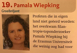 Pamala Wiepking honored