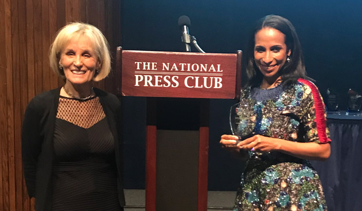 Una Osili, National Press Club award