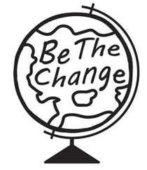 be the change globe logo
