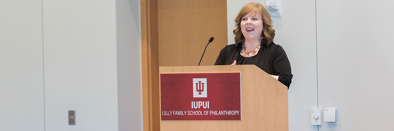 Tami Tarpley, Indiana University Lilly Family School of Philanthropy graduation reception