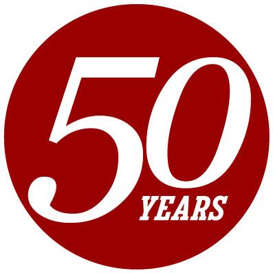 IUPUI 50 years logo