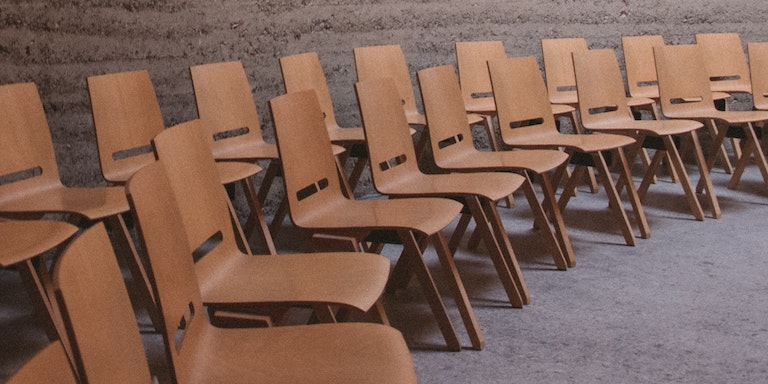 Empty chairs in a room