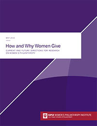 How and Why Women Give report cover