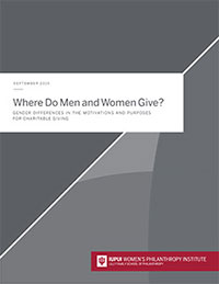 Where Do Women and Men Give cover
