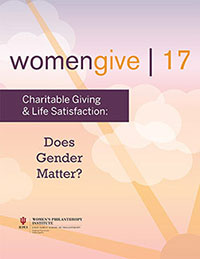 Women Give 2017 report cover
