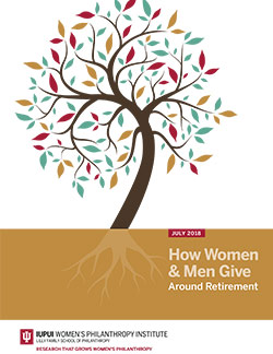 How Women & Men Give Around Retirement report cover