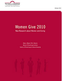Women Give 2010 report cover