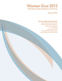 Women Give 2012 report cover