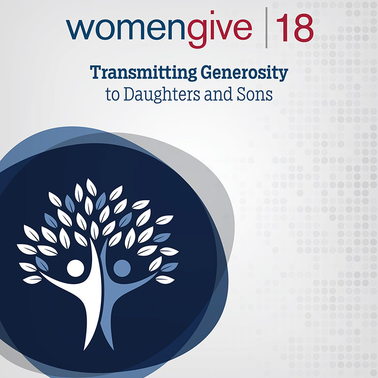 Women Give 2018 report cover