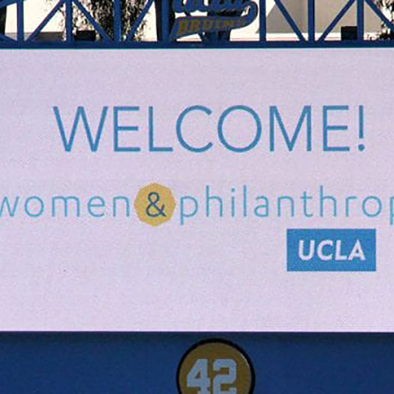 UCLA welcome sign