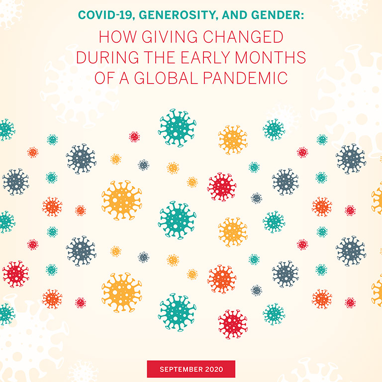 COVID-19, Generosity and Gender report cover