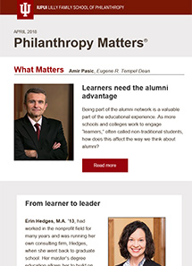 Philanthropy Matters newsletter