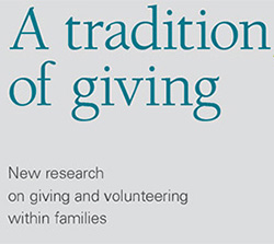 Research: A tradition of giving