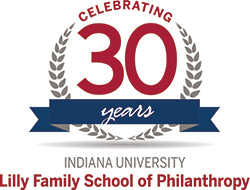 Indiana University Lilly Family School of Philanthropy 30th Anniversary logo