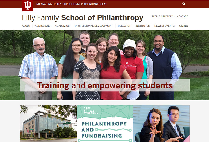 IU Lilly Family School of Philanthropy launches new website
