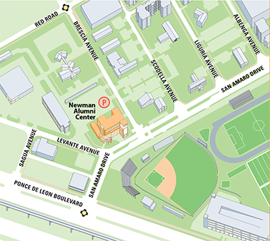 Newman Alumni Center parking map
