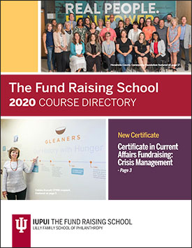 The Fund Raising School 2020 course directory cover