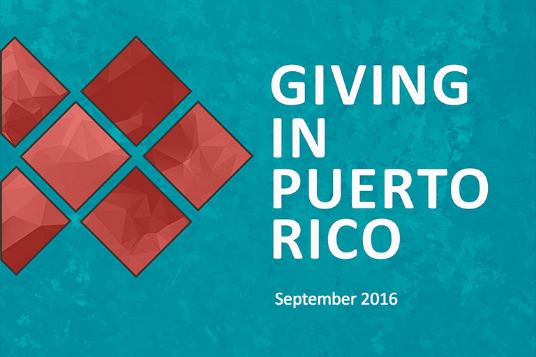 Giving in Puerto Rico report cover