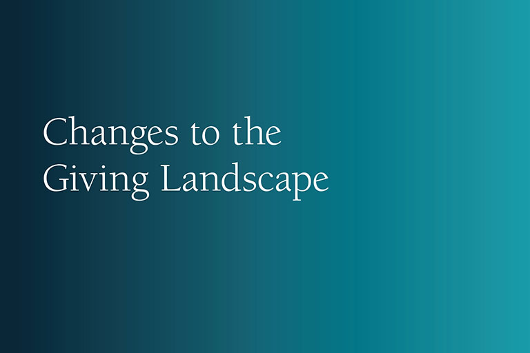 Changes to the Giving Landscape report cover